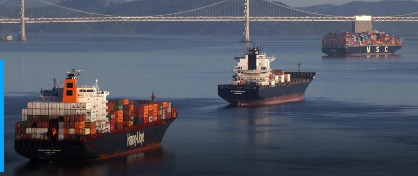 Record shattered: 65 container ships stuck waiting off California
