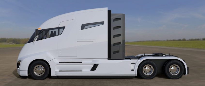 TESLA UNVEILS ELECTRIC SEMI-TRUCK